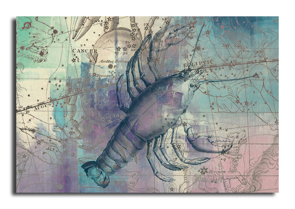 Ready2HangArt 'Zodiac Study: Cancer' Oversized Canvas Wall Art