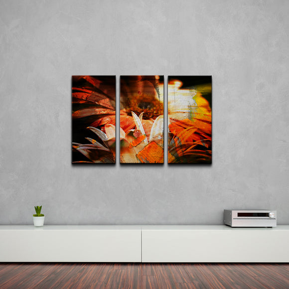 'Daisies' Abstract Canvas Wall Art (3-Piece)