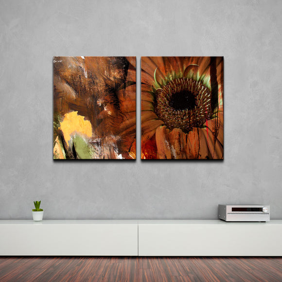 'Gerber Daisy' 2-piece Oversized Canvas Wall Art Set