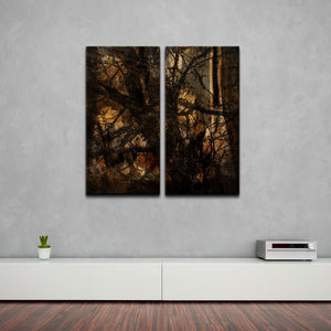 'Tree Study' Oversized Abstract Canvas Wall Art (2-Piece)