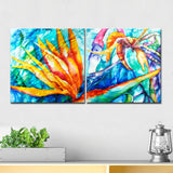 Ready2HangArt 'Tropical Birds of Paradise' 2-piece Canvas Wall Art Set
