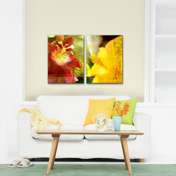 Ready2HangArt 'Tropical Hibiscus' Canvas Wall Art 2-piece Set