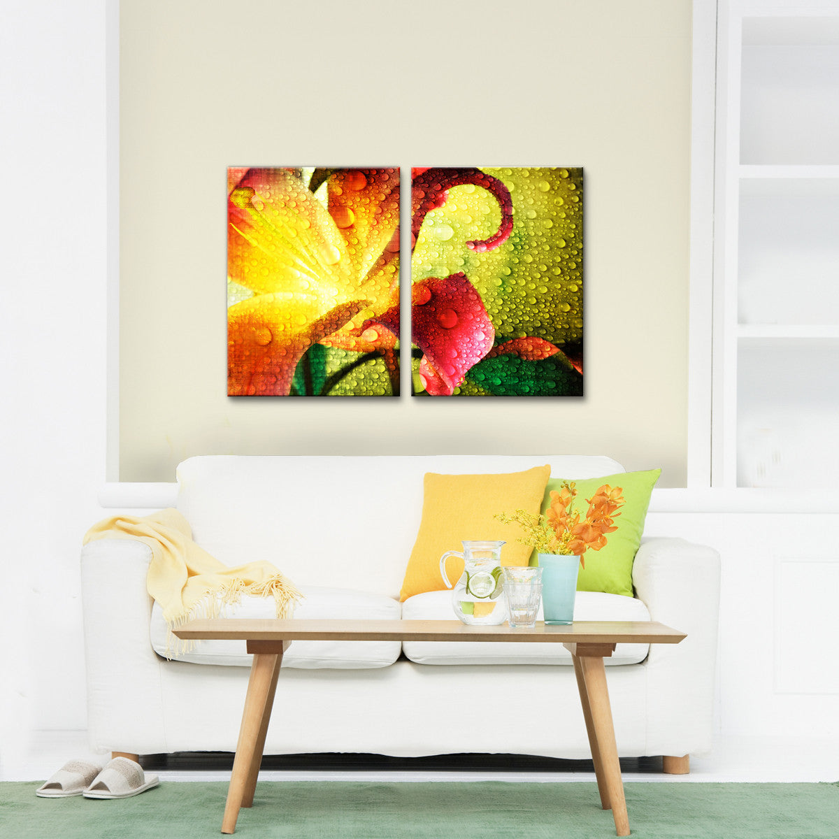 Ready2HangArt \'Tropical Hibiscus\' Canvas Wall Art (2 pieces)