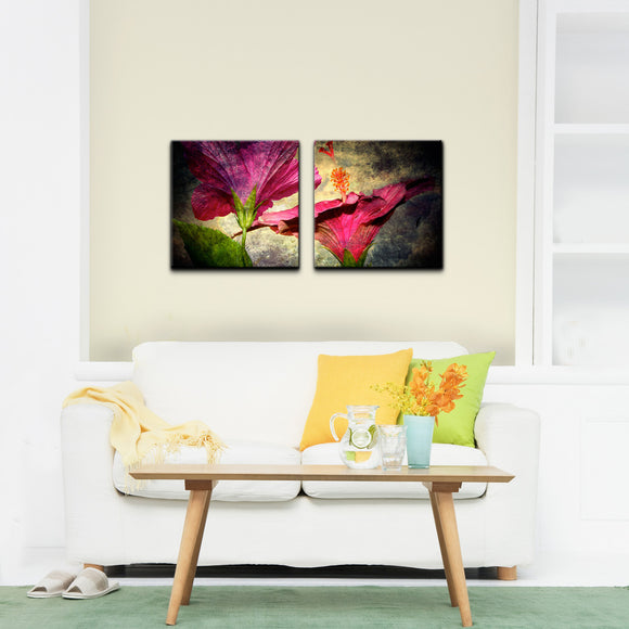 Ready2HangArt 'Tropical Hibiscus' 2-piece Canvas Wall Art Set