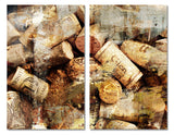 Ready2HangArt 'Never Enough Corks' Oversized Canvas Wall Art (2-Piece)