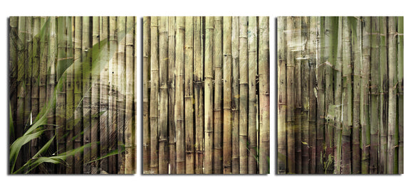 Ready2HangArt 'Bamboo Abstraction' Oversized Canvas Wall Art (3-piece)