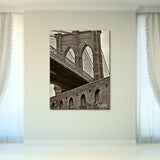 Bruce Bain 'Brooklyn Bridge' 40x30 inch Canvas Wall Art