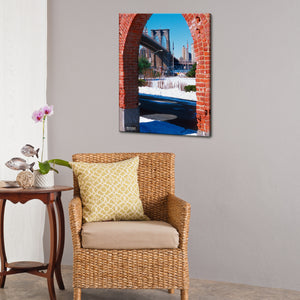 Bruce Bain 'Brooklyn Bridge 2' 24x18 inch Canvas Wall Art