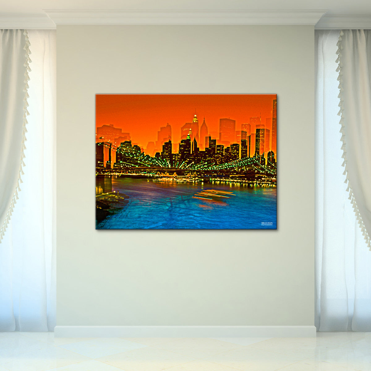 Bruce Bain 'Brooklyn Bridge 3' 30x40 inch Canvas Wall Art