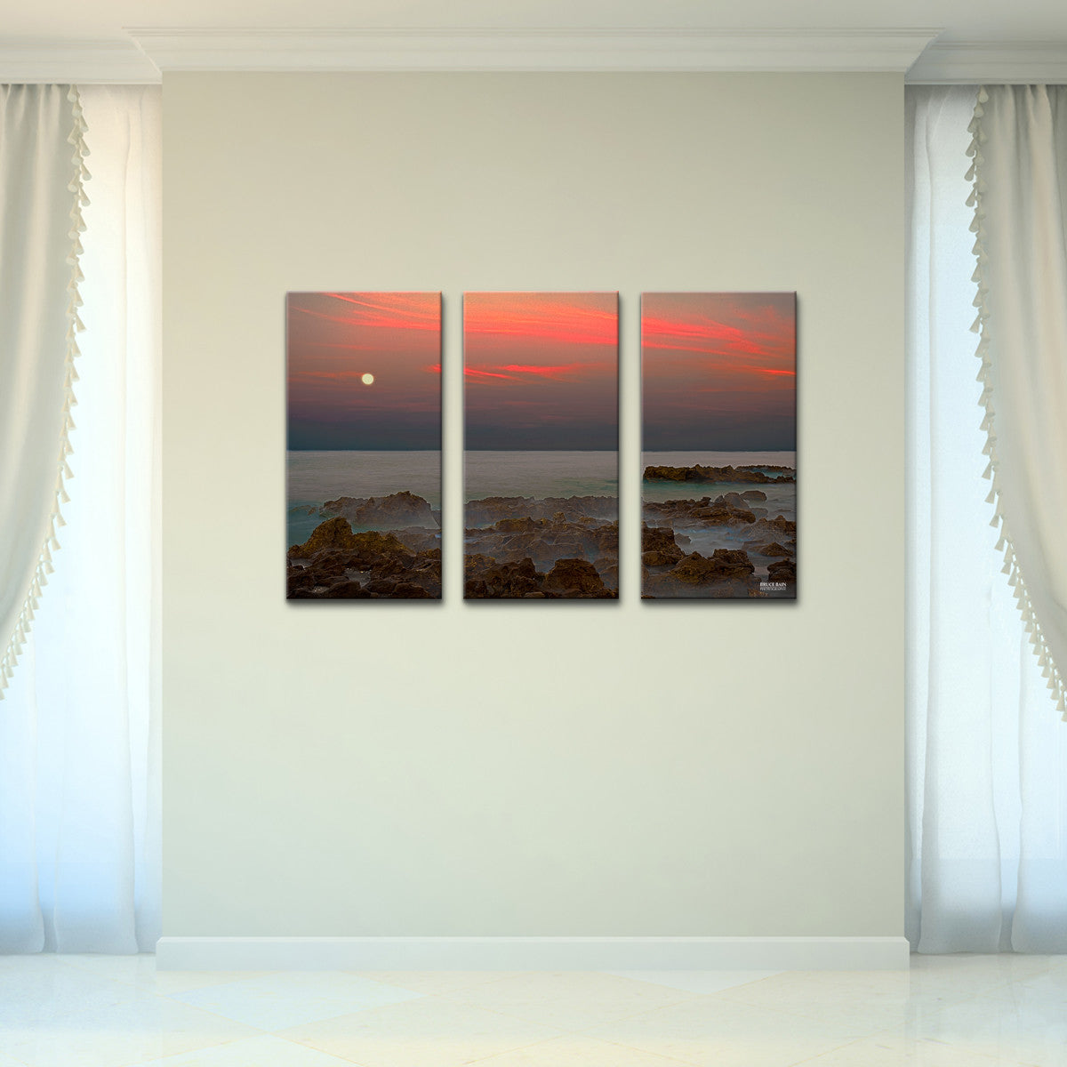 Bruce Bain 'Coral Cove' 24x36 inch Canvas Wall Art (3-Pc set)