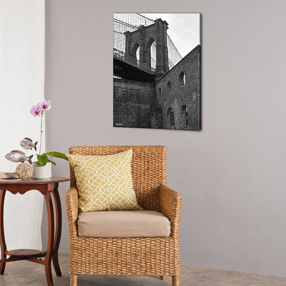 Bruce Bain 'Brooklyn Bridge 4' 24x18 inch Canvas Wall Art