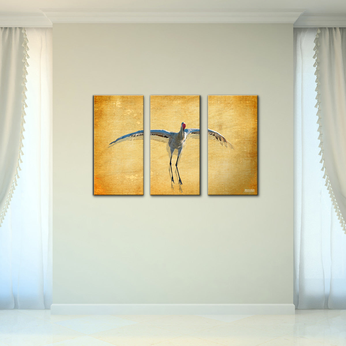 Bruce Bain \'Dancing Bird\' 24x36 inch Canvas Wall Art (3-Pc set ...