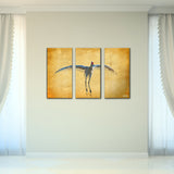 Bruce Bain 'Dancing Bird' 24x36 inch Canvas Wall Art (3-Pc set)