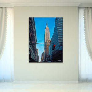 Bruce Bain 'Empire State Building' 40x30 inch Canvas Wall Art