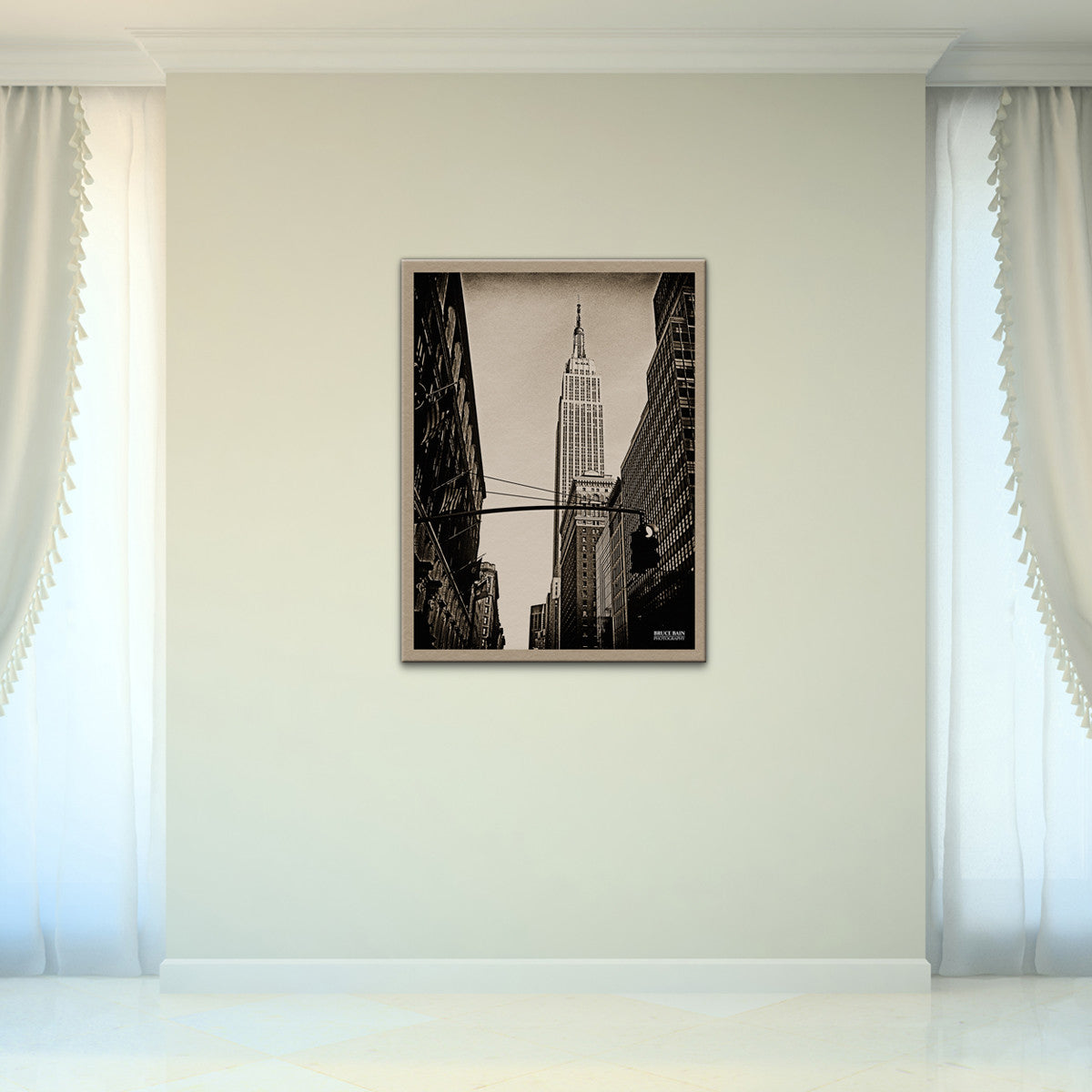 Bruce Bain 'Empire State Building 2' 32x24 inch Canvas Wall Art