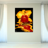 Bruce Bain 'Flooding Orchid' 40x30 inch Canvas Wall Art