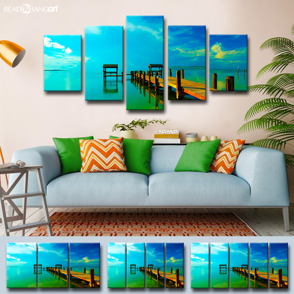 Bruce Bain 'Key's Pier' Canvas Wall Art Set