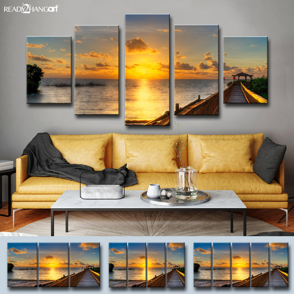 Bruce Bain 'Key's Sunrise' Canvas Wall Art Set