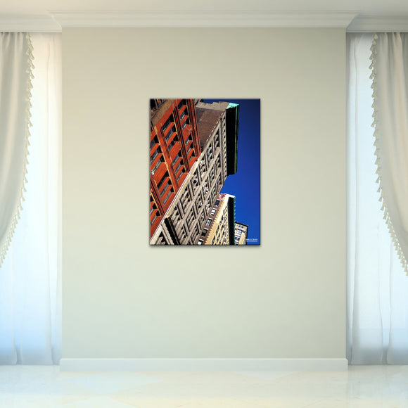 Bruce Bain 'Buildings' 32x24 inch Canvas Wall Art