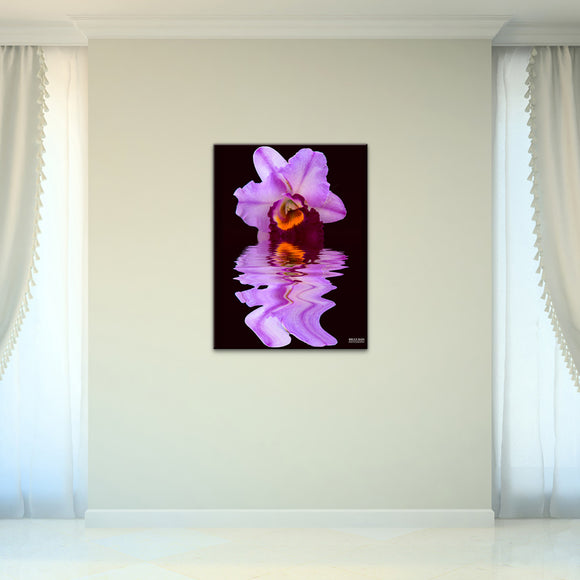 Bruce Bain 'Purple Orchid' 32x24 inch Canvas Wall Art