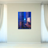 Bruce Bain 'Twin Towers' 32x24 inch Canvas Wall Art