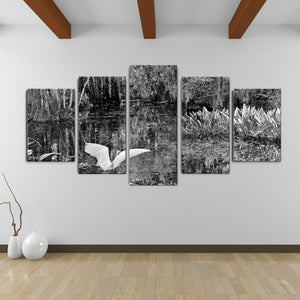 Bruce Bain 'Swamp' 30x60 inch Canvas Wall Art (5-Pc set)