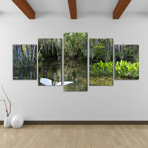 Bruce Bain 'Swamp-Color' 30x60 inch Canvas Wall Art (5-Pc set)
