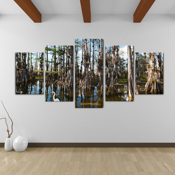 Bruce Bain 'Tall Cypress' 30x60 inch Canvas Wall Art (5-Pc set)