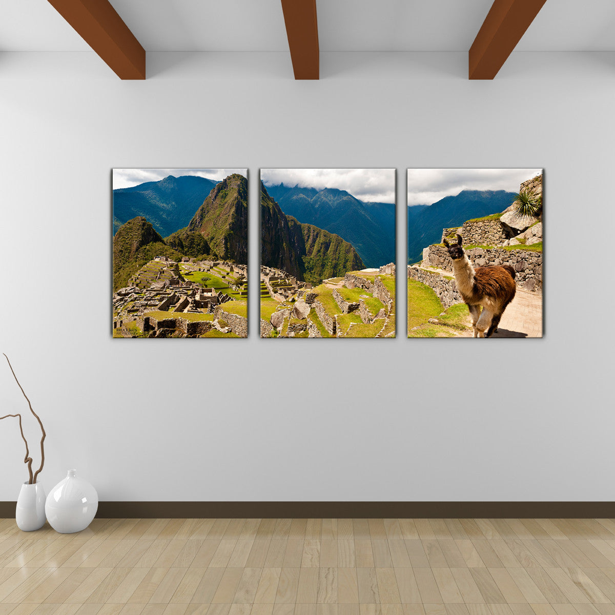 Bruce Bain 'Machu Picchu' 20x48 inch Canvas Wall Art (3-Pc set)