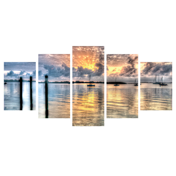 Bruce Bain 'Calm Waters' 5-Piece Canvas Wall Art Set