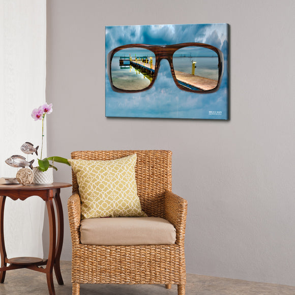 Bruce Bain 'Glasses' 18x24 inch Canvas Wall Art