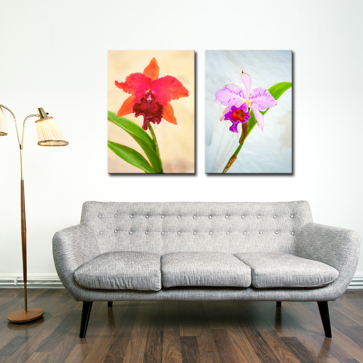 Bruce Bain 'Orchid Pastel' Canvas Wall Art