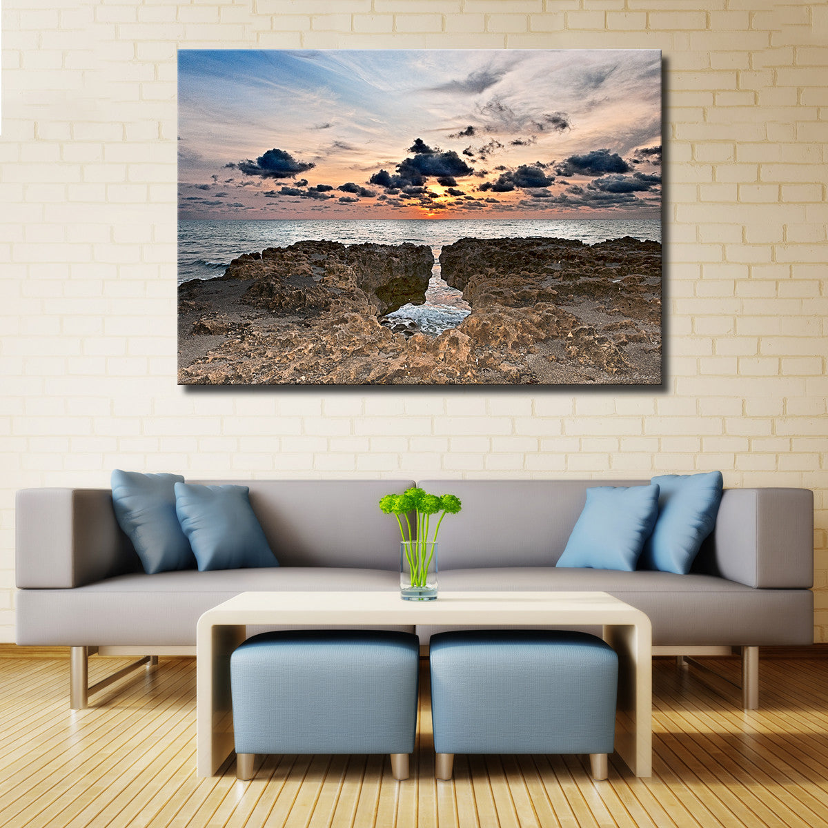 Bruce Bain 'Sunset Rock II' Canvas Wall Art