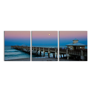 Bruce Bain 'Blue Pier II' Canvas Wall Art