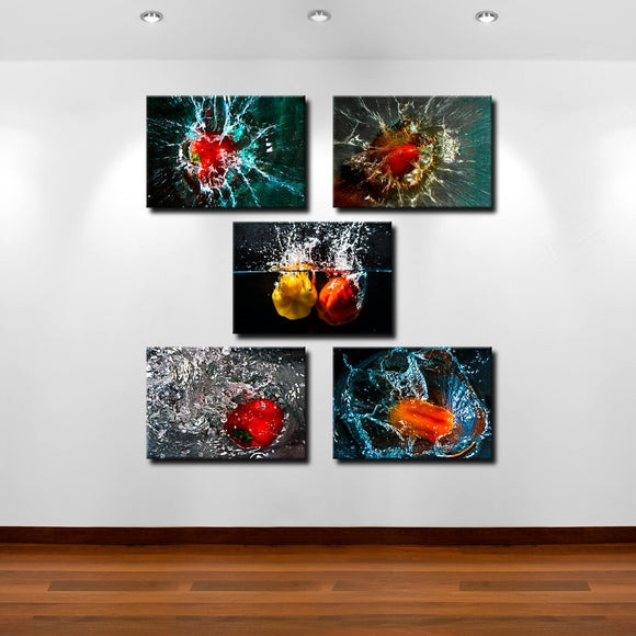Bruce Bain 'Pepper Splash' Canvas Wall Art