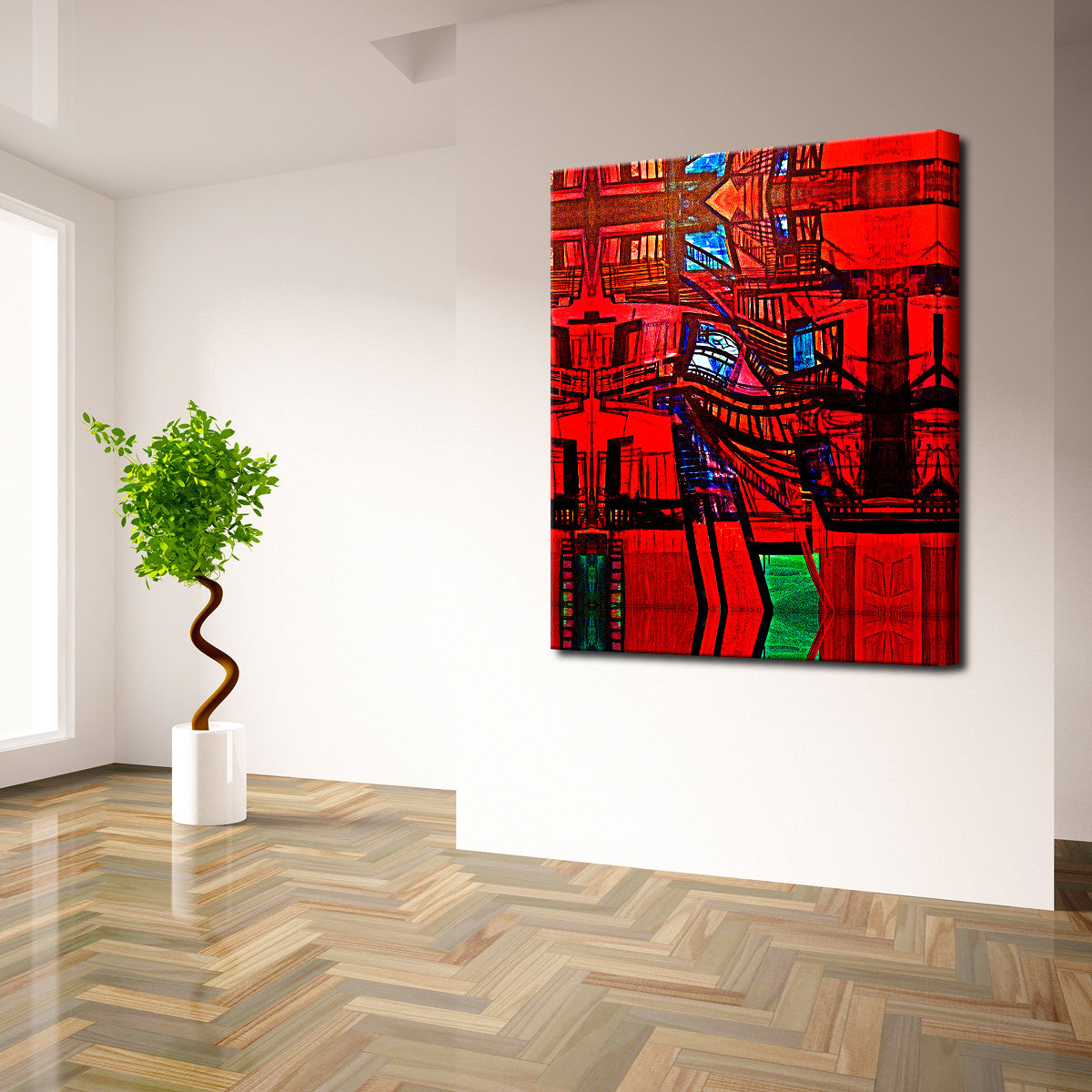 Bruce Bain 'Abstract Escape' Canvas Wall Art