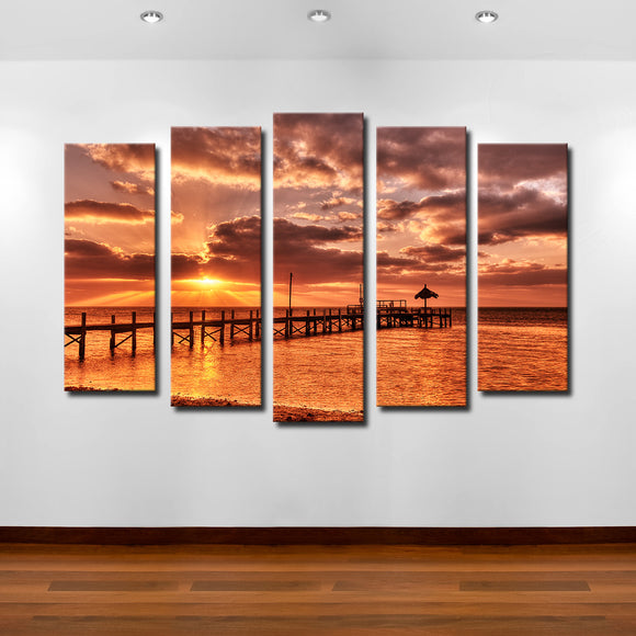 Bruce Bain 'Sunrise Pier' Canvas Wall Art