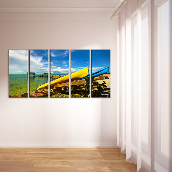 Ready2HangArt Bruce Bain 'Beachside Boat Stand' 5-pc Canvas Art Set