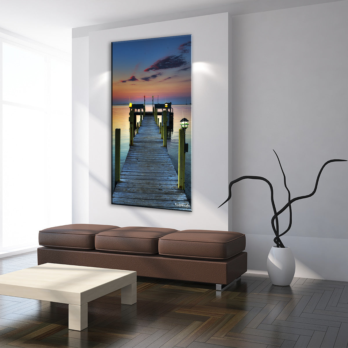 Ready2HangArt Bruce Bain 'Ocean Pier' Canvas Art