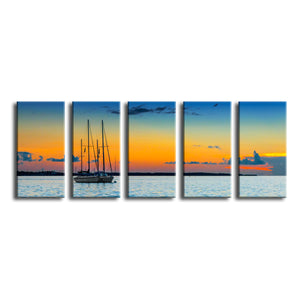 'Quiescent' 5 Piece Wrapped Canvas Wall Art Set