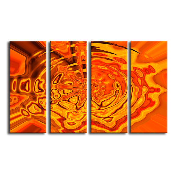 'Surge' 4 Piece Wrapped Canvas Wall Art Set