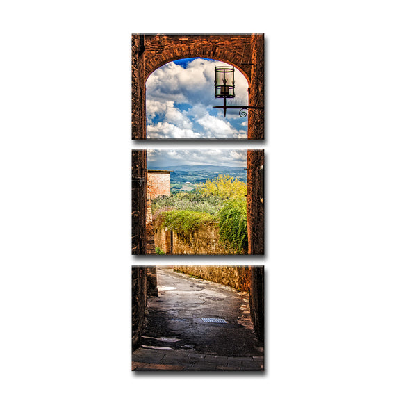 Ready2HangArt Bruce Bain 'Tuscan Architecture V' 3-PC Canvas Art Set