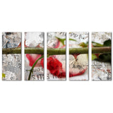 Ready2HangArt 'Born2BWild II' 5-piece Canvas Wall Art