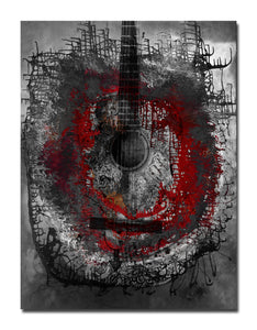 Ready2HangArt 'Acoustic Guitar' Abstract Canvas Wall Art