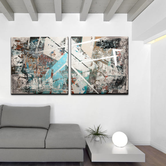 Oversized 'Abstract' 2-PC Canvas Wall Art