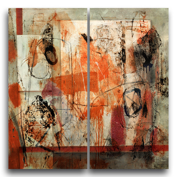 Ready2HangArt 'Bueno Exchange XX' 2-Piece Canvas Art Print
