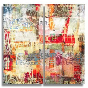 Ready2HangArt 'Bueno Exchange XXI' 24x24-inch Canvas Diptych Art Print