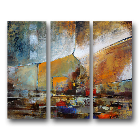 Ready2HangArt 'Bueno Exchange XXII' Canvas Wall Art (3 Piece)