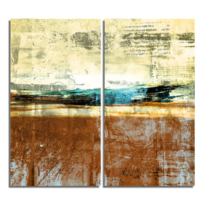 Ready2HangArt 'Bueno Exchange XXIV' 30x40-inch Canvas Diptych Art Print