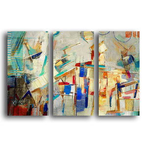 Ready2HangArt 'Bueno Exchange XXV' 20x48-inch Canvas Triptych Art Print